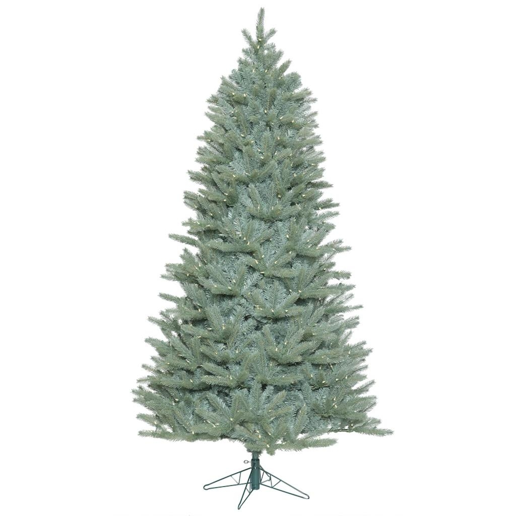"Vickerman 408230 - 12' x 80"" Colorado Blue Spruce Tree with 2,000 Warm White LED Lights Christmas Tree (A164591LED)"