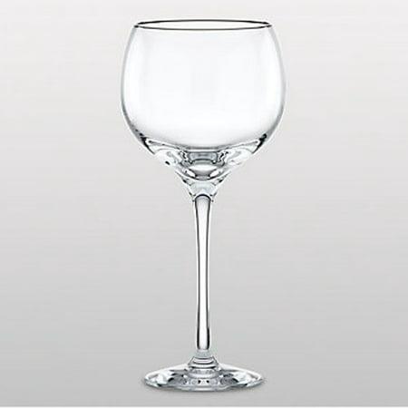 Solitaire Platinum Signature Crystal Goblet