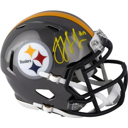 - JuJu Smith-Schuster Pittsburgh Steelers Autographed Riddell Chrome Alternate Speed Mini Helmet - Fanatics Authentic Certified