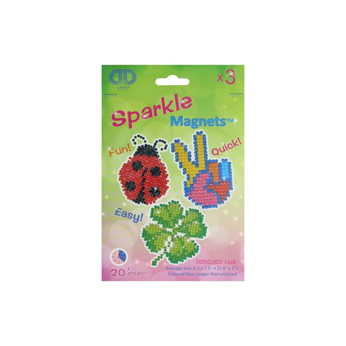 DD50002  Diamond Dotz Diamond Magnets Facet Art Kit-Assorted Classic 3//Pkg