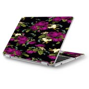 "Skins Decals for Asus Chromebook 12.5"" Flip C302CA Laptop Vinyl Wrap / Rose Floral Trendy"