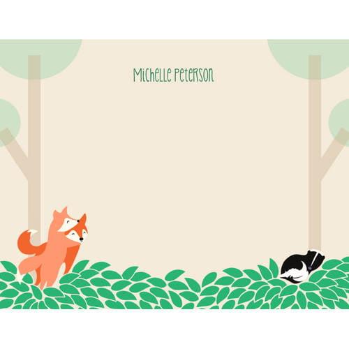 Woodland Animals Notecard