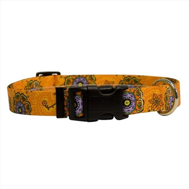 Yellow Dog Design FF103L Folk Flowers Standard Collar - Large