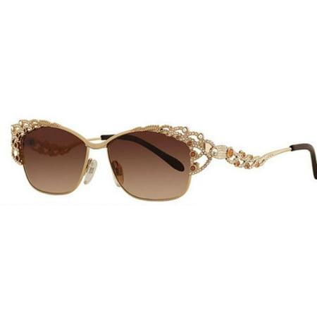 Caviar Sunglasses 5594 C16 Champagne Series Gold Frame Topaz (Caviar Sunglasses)