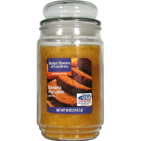 Diwali Candles (Better Homes & Gardens 18oz Banana Pumpkin Bread Fragranced Candle)