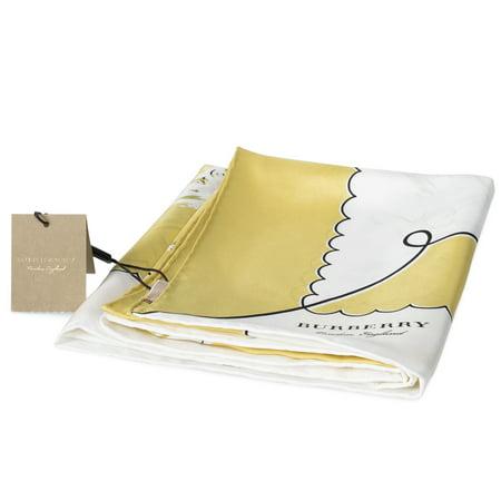Burberry Silk Scarf - Burberry London Print Silk Square Scarf | Bright Yellow