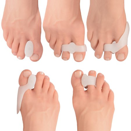 Dr. Fredericks Original 14 Piece Bunion Pad & Spacer Kit 7 Pairs of Soft Gel Toe Separators & Bunion Cushions One Size Fits All for... by