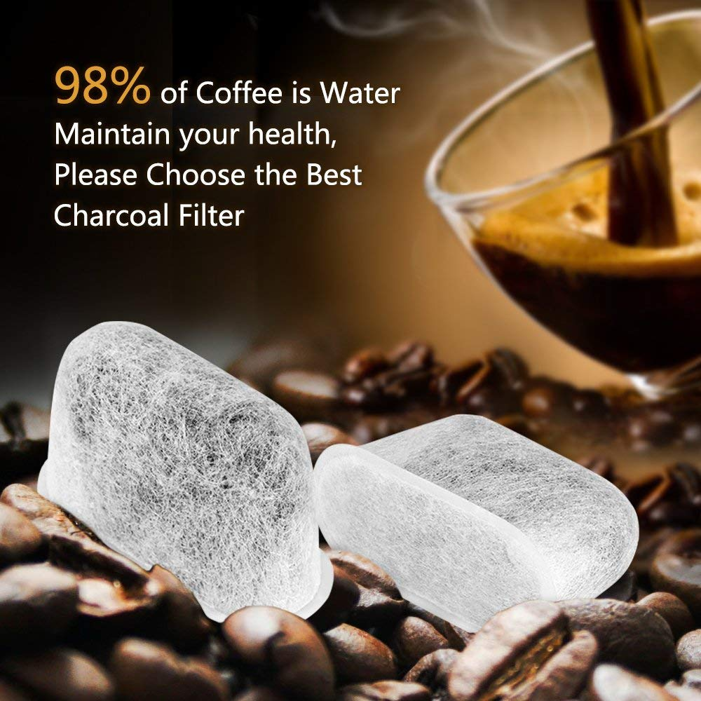 High Quality 6-Pack Replacement Charcoal Water Filters for Cuisinart Coffee Machines