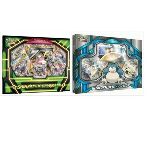 Pokemon Trading Card Game Shiny Rayquaza Ex Box And Snorlax Gx Box Collection Bundle 1 Of Each
