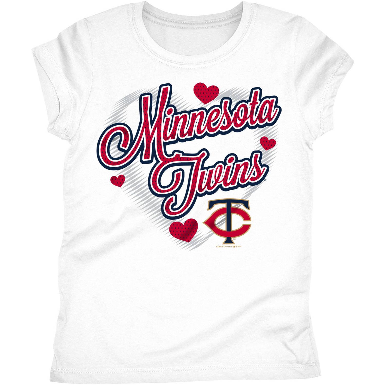 Minnesota Twins Girls Short Sleeve Graphic Tee