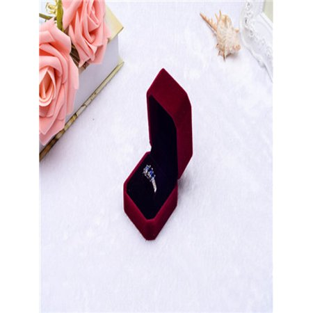 Fashion Velvet Engagement Wedding Earring Ring Pendant Jewelry Display Box Red