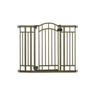 Home Safe Multi Use Decorative Extra Tall Walk Thru Gate (Bronze)