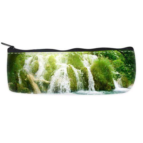 POPCreation Waterfall World Most Famous Landscape School Pencil Case Pencil Bag Zipper Organizer Bag