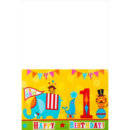 Amscan BB571184 Fisher Price Circus Plastic Table Cover