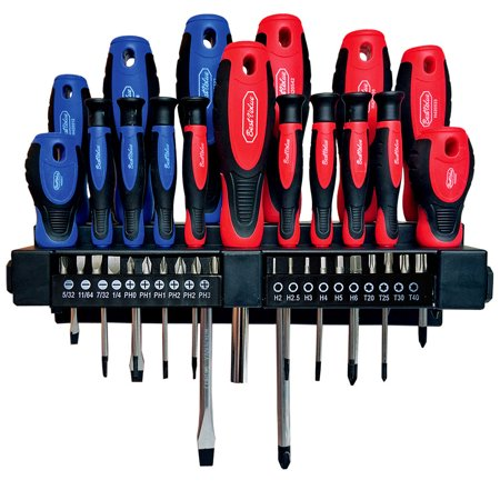 Best Value H420556 Screwdriver and Bit with Rack Holder and Magnetic Tips 38-Piece