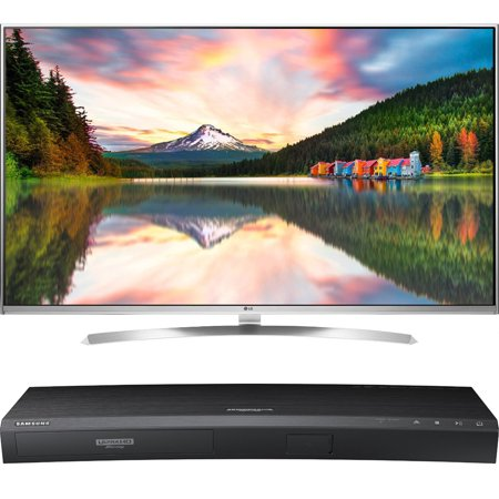 LG 65-Inch Super Ultra HD 4K Smart LED TV with webOS 3.0 (65UH8500) with Samsung 3D Wi-Fi 4K Ultra HD Blu-ray Disc Player