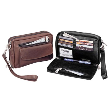 Winn International Mens Leather Compact Organizer II ()