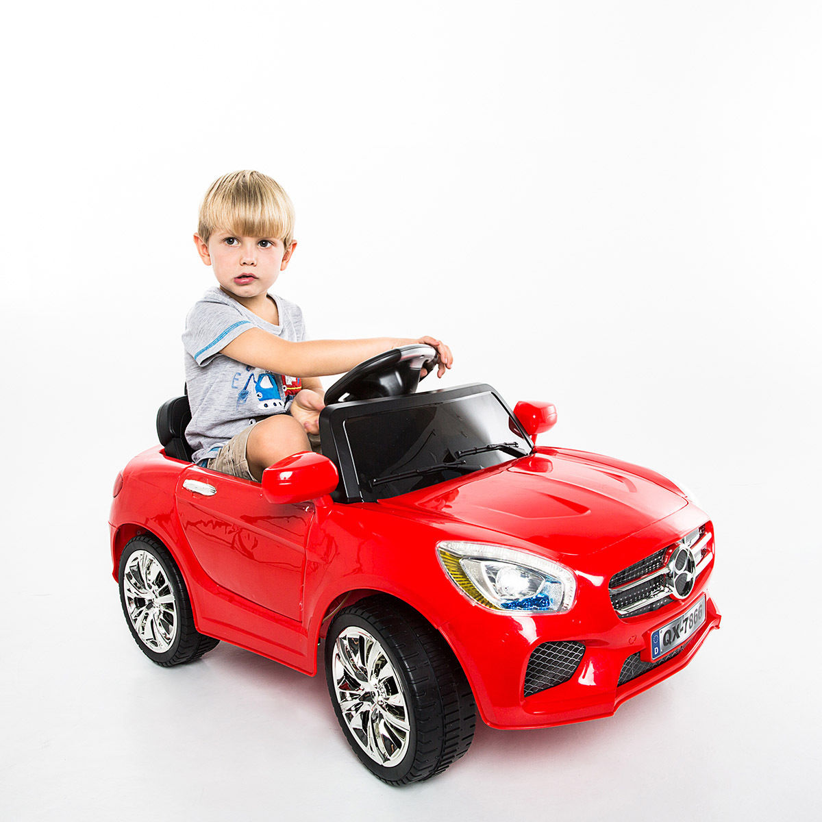 Costway 6V Kids Ride On Car RC Remote Control Battery Powered w/ LED Lights MP3 Red