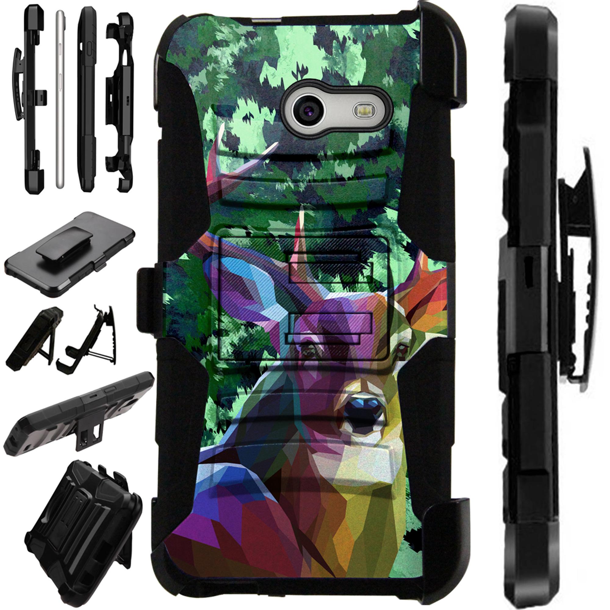 LuxGuard Phone Case Cover For Samsung Galaxy J7 J7V (2017) | J7 Sky Pro | J7 Perx  (Deer Hunt)