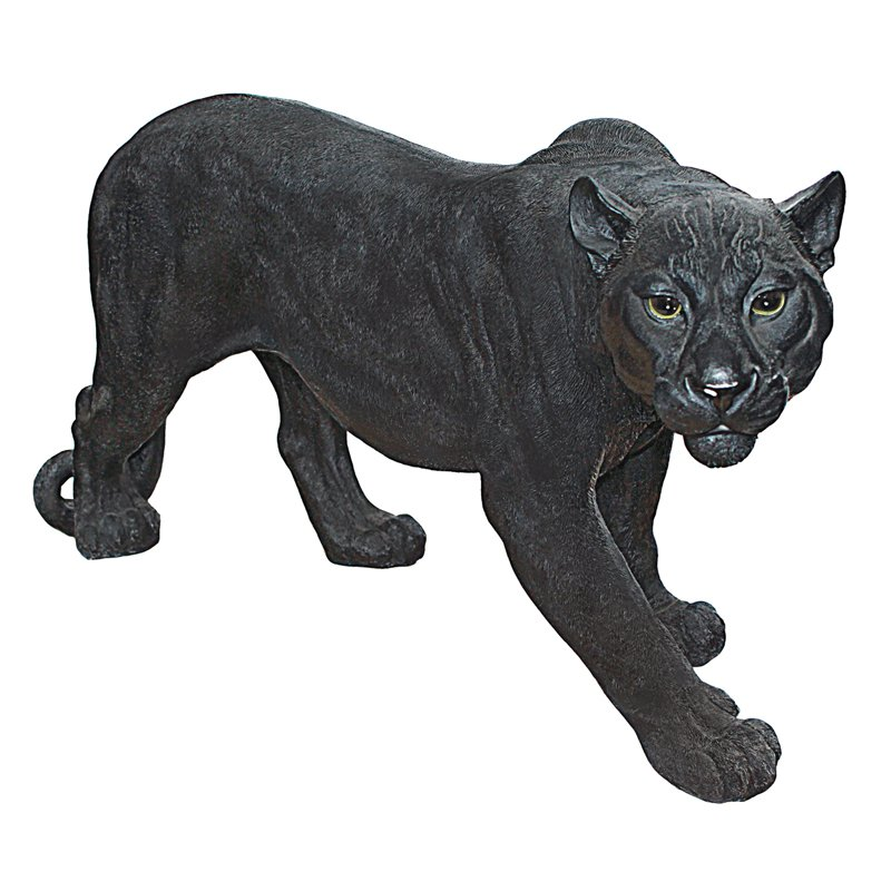 Design Toscano Shadow Predator Black Panther Garden Statue by Design Toscano