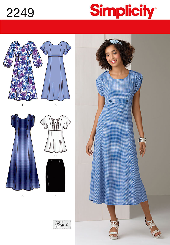Simplicity pattern plus size dresses 20w 28w walmart jeuxipadfo Choice Image