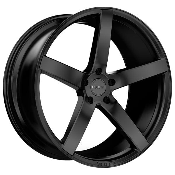 Ruff R1 22x9 5x115 +15mm Satin Black Wheel Rim