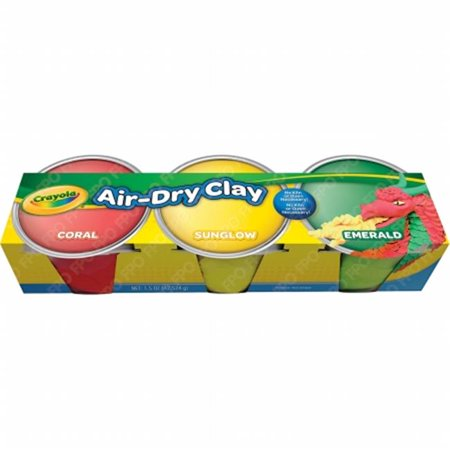 Crayola Air Dry Clay, Pastel Colors, 3 Count