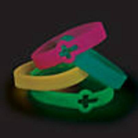 Cutout Cross Glow-in-the-Dark Faith Rubber Bracelets (Rubber Glow In The Dark Bracelets)