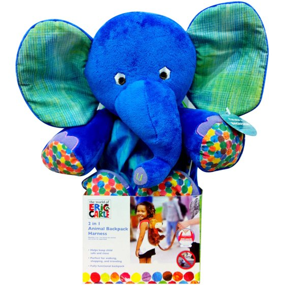 Eric Carle 2-in-1 Backpack Harness, Elephant - Walmart.com