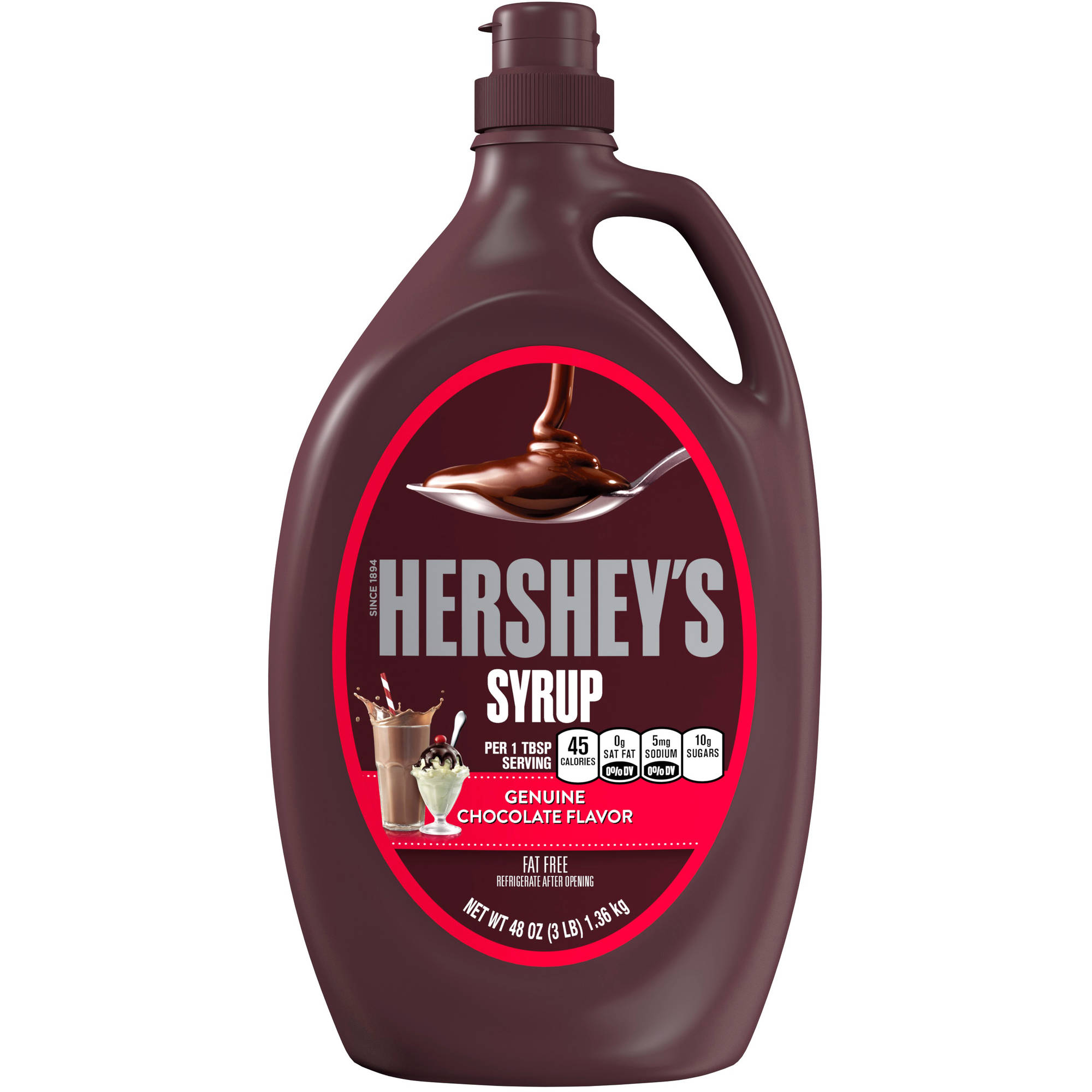 Hershey's Genuine Chocolate Flavor Syrup, 48 oz