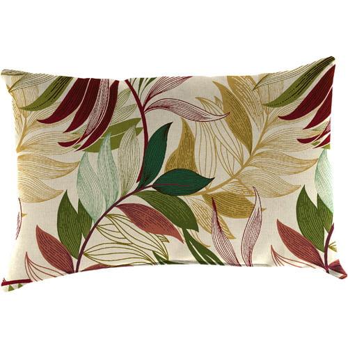 Jordan Manufacturing Outdoor Rectangular Toss Pillow, Oasis Gem