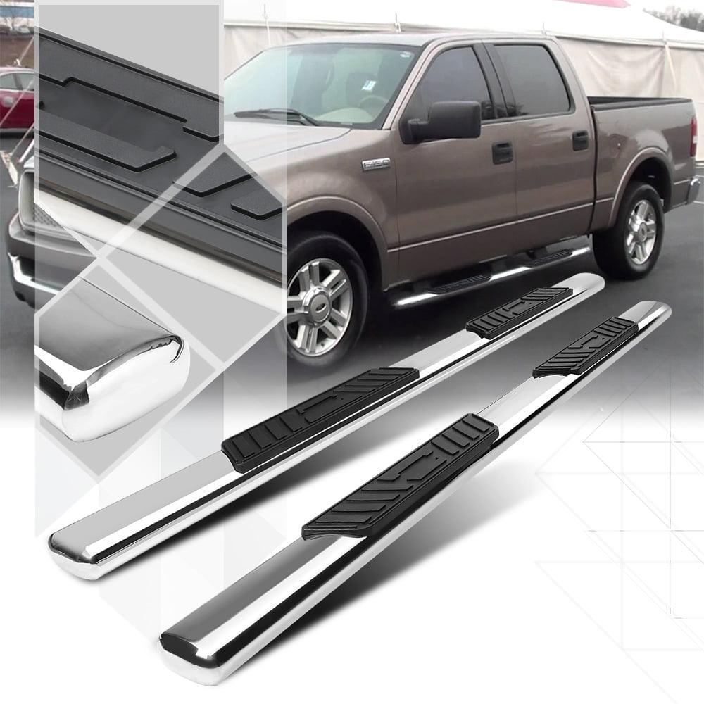 "Chrome 5"" Oval Side Step Nerf Bar for 04-08 Ford F150/Mark LT Crew/SuperCrew Cab 05 06 07"