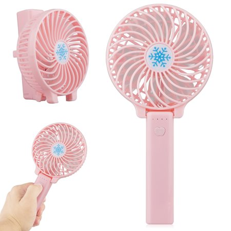 Mini Handheld Fan, with USB Rechargeable Battery, Foldable Personal Portable Desktop Table Cooling Electric Fan for Office Room Outdoor Household Traveling(Low/Medium/High Speed)