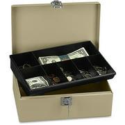 ICONEX, ICX94190023, SecurIT Lock N' Latch Steel Cash Box, Sand