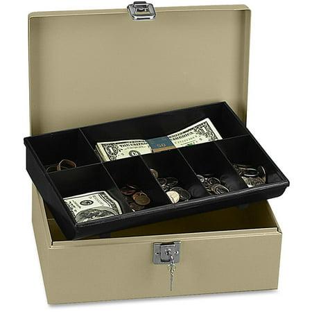 PM, PMC04963, Securit Lock N' Latch Steel Cash Box, -