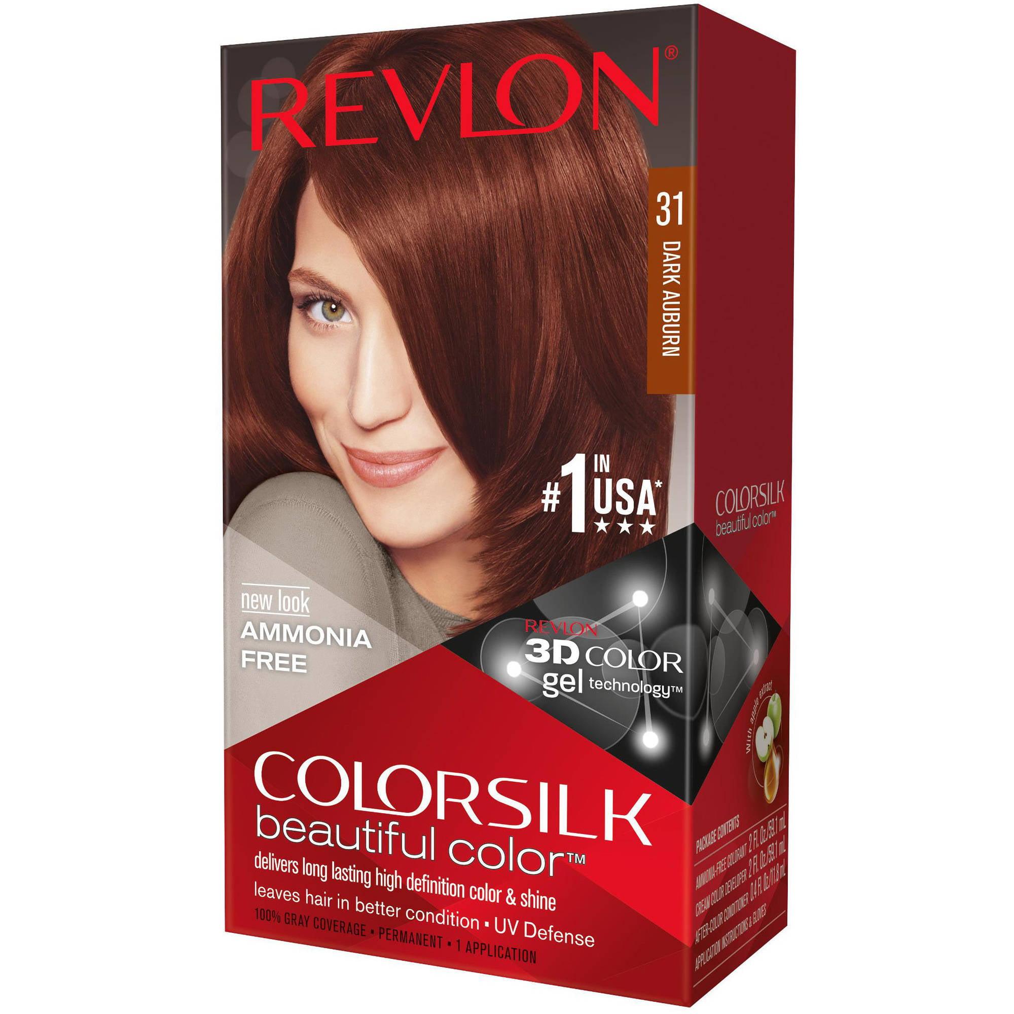 Revlon Colorsilk Beautiful Color Permanent Hair Color, 31 Dark Auburn
