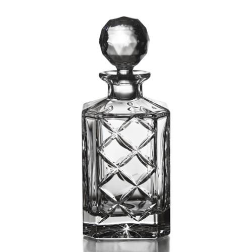 Fitz Floyd Fitz and Floyd Tufted Square Crystal Decanter
