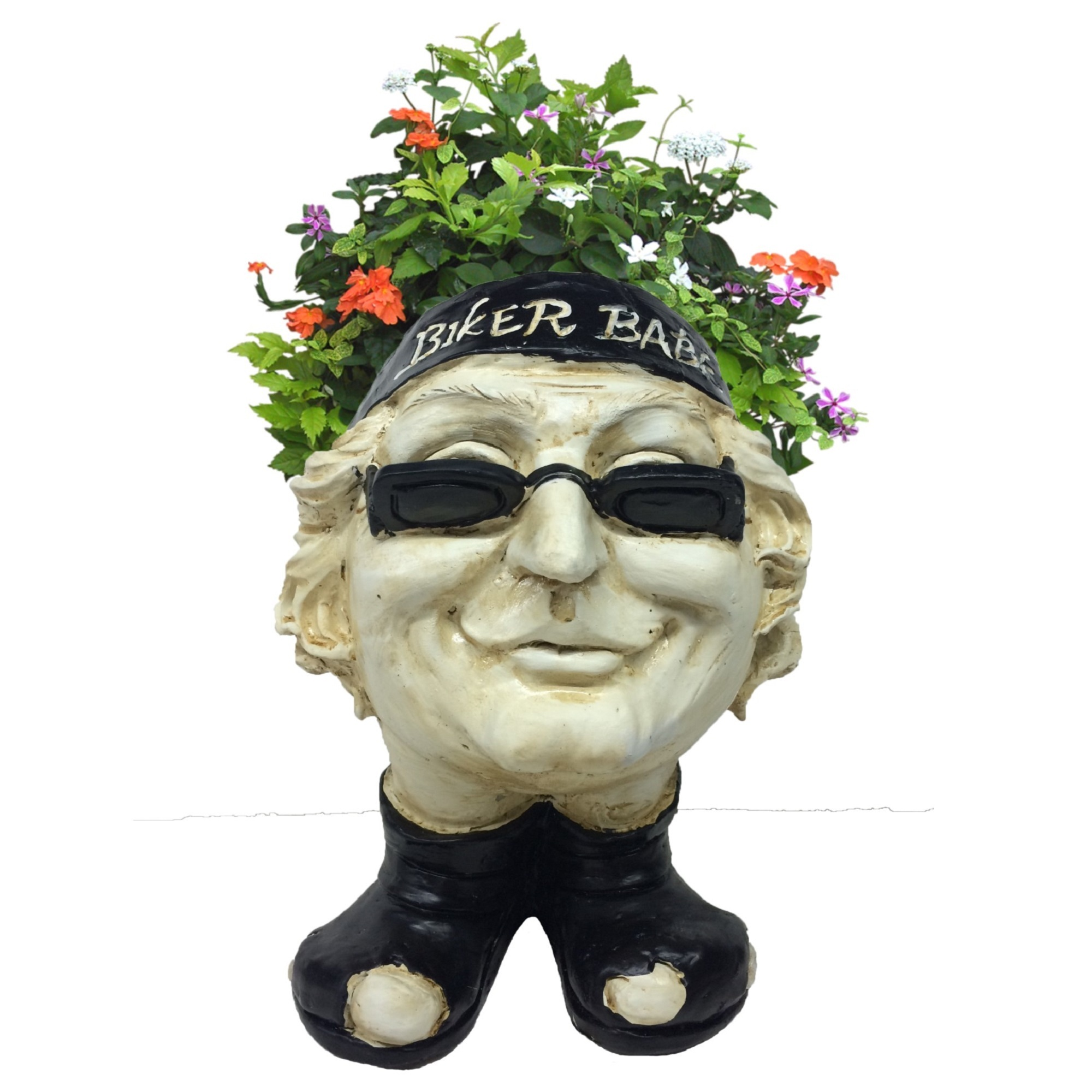 "Homestyles Muggly Biker ""Babe"" Antique White Accent 12"" Face Planter Garden... by GSI Homestyles"