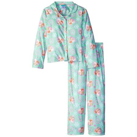 Disney Girls' Frozen Fever Forever Fun 2-Piece Pajama Coat Set - Frozen Forever