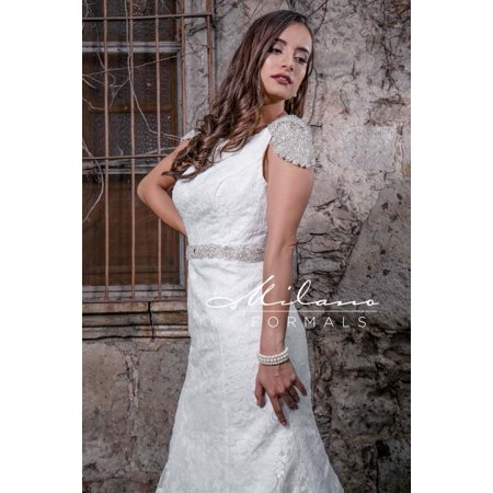 Milano Formals Captivating Pearled Wedding Gown From Milano