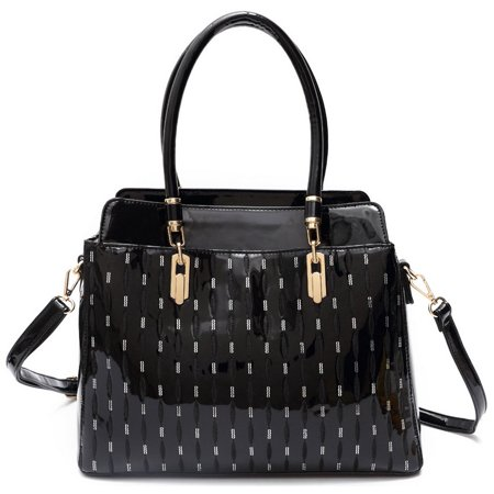 - Blancho Bedding Womens Trendy S#1 PU Leather Handbag Fashion Elegant Tote Bag Black