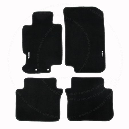 Fit ACURA TL Sedan Custom Fit Premium Nylon Black Floor Mats - 2006 acura tl floor mats