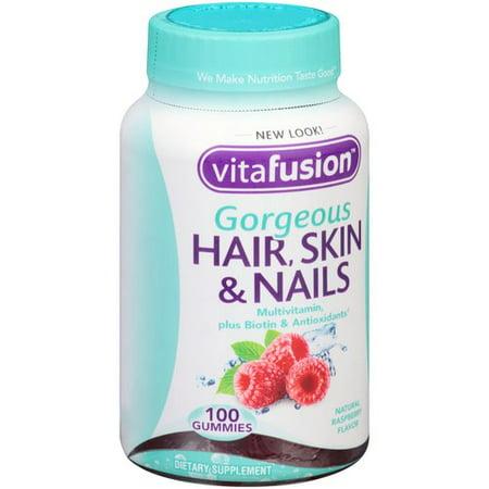 Vitafusion Gorgeous Hair Skin Nails Multivitamin Gummies Raspberry