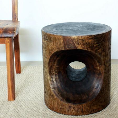 - HAUSSMANN Peephole Sust Wood 16 inch D x 18 inch Ht w Eco Friendly Livos Walnut Oil Finish