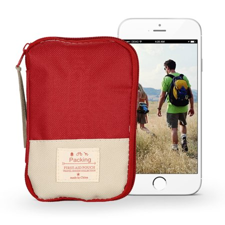 Camping Hiking Travel Home Outdoor Survival Kits Emergency Pouch Case First Aid Kits Bag - image 2 of 7