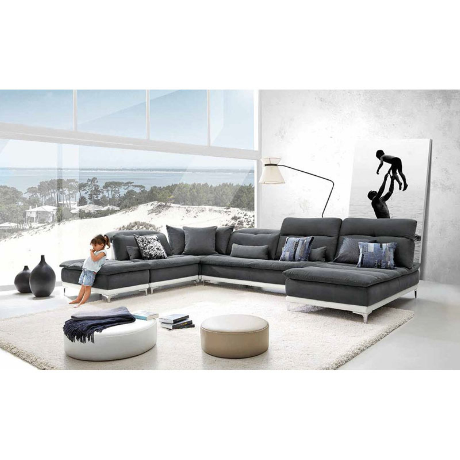 Lusso Horizon Modern Sectional Sofa