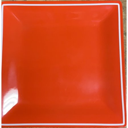 Martha Stewart Collection Everyday Melamine Collection Red Dinner Plate