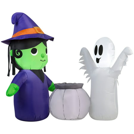 Halloween Airblown Inflatable-Witch and Ghost Scene by Gemmy Industries