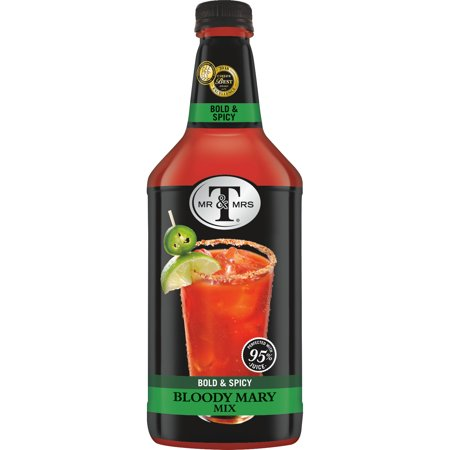 Mr & Mrs T Bold & Spicy Bloody Mary Mix, 1.75 L Bottle, 1 Count (Pack of