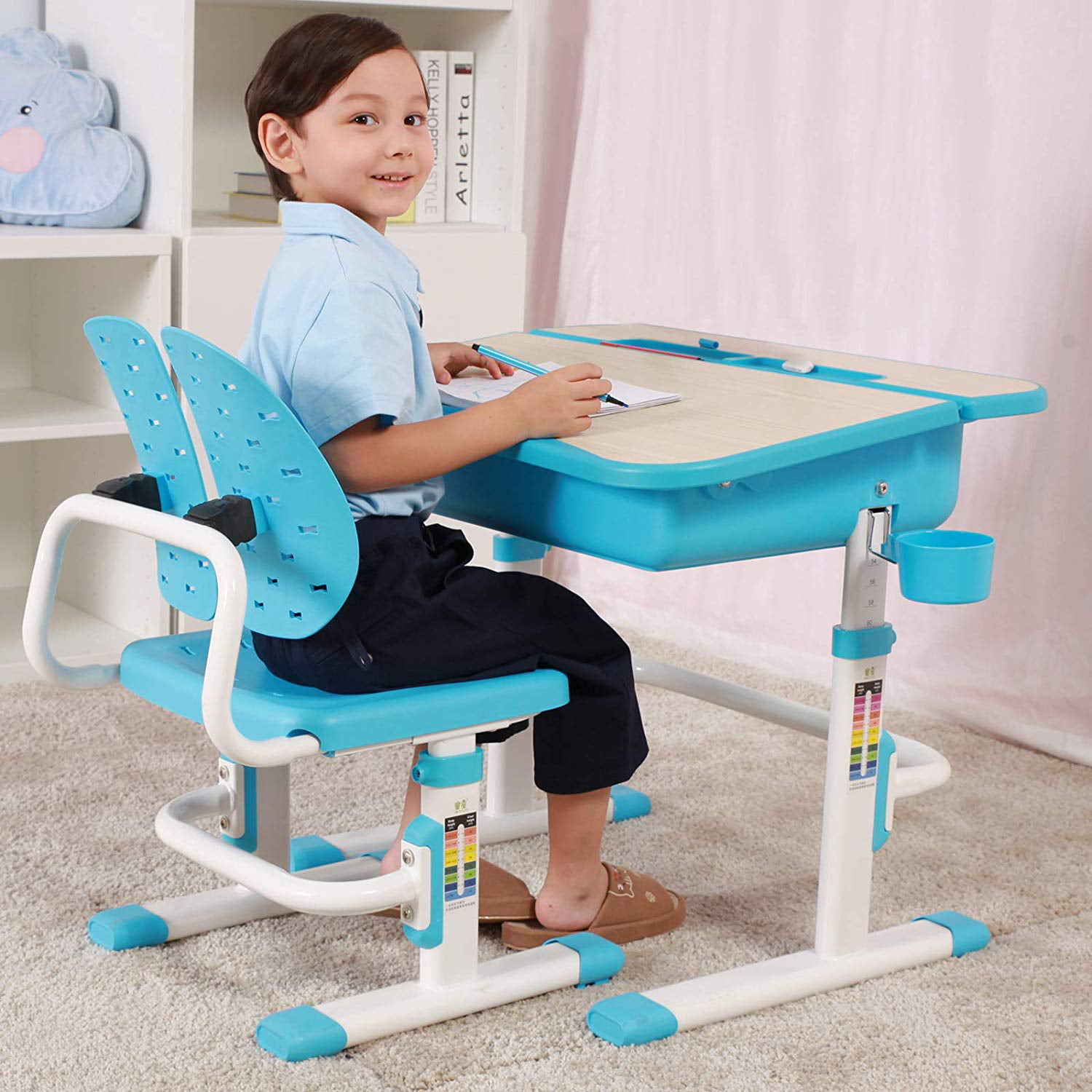 Mecor Kids Desk and Chair Set,Children Study Table Wood